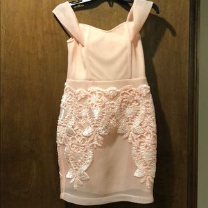 Soiéblu sz S peach/pink off the shoulder bodycon